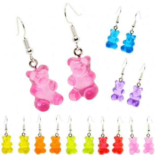 Bluebubble MY SWEET SHOP Gummy Bear Dangle Earrings With FREE Gift Box